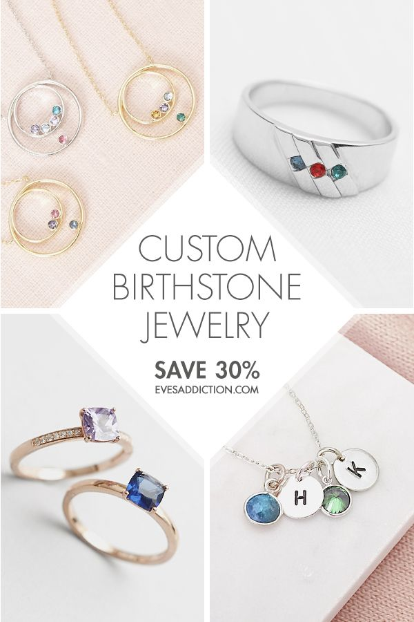 b4a4f170b Create the perfect custom gift for any occasion with one of Eve's  Addiction's stylish birthstone jewelry. Save 30% when you shop from our  large selection of ...