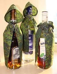 Картинки по запросу украшение бутылки к 23 февраля