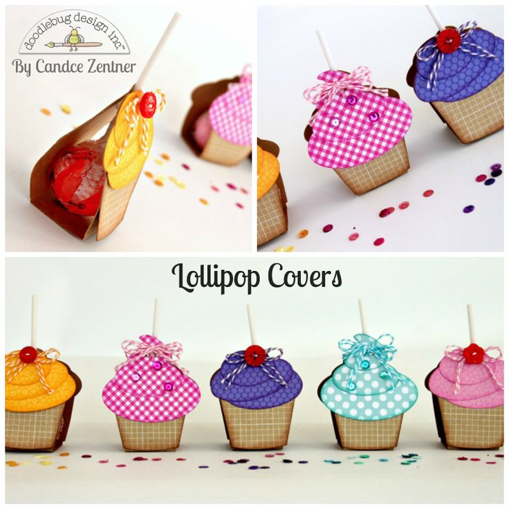 Doodlebug Design Inc Blog: Kraft in Color: Lollipop Covers by Candace
