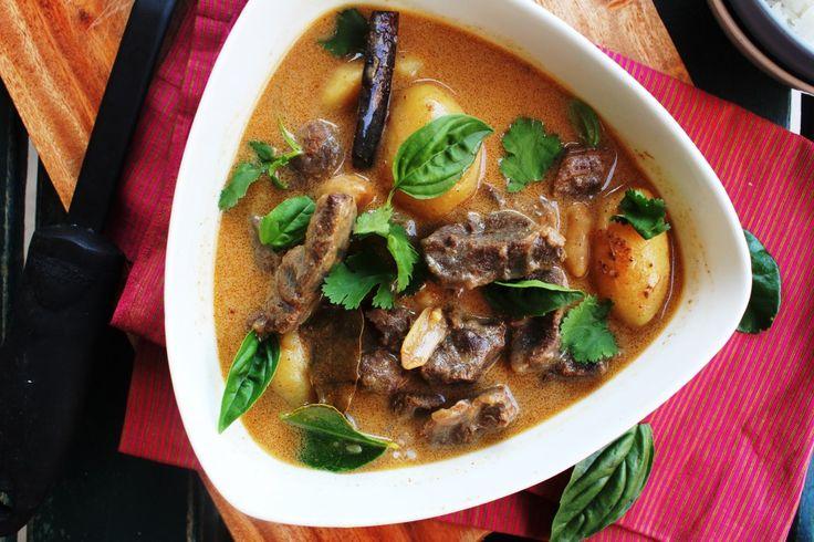 Lamb Massaman Curry - Lamb, Coconut, Peanuts, Potatoes, Basil.
