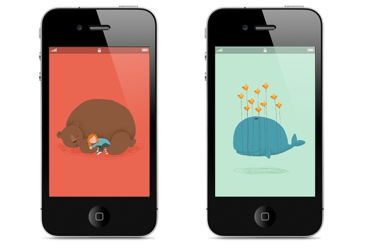 iPhone wallpapers made by Marloes de Vries