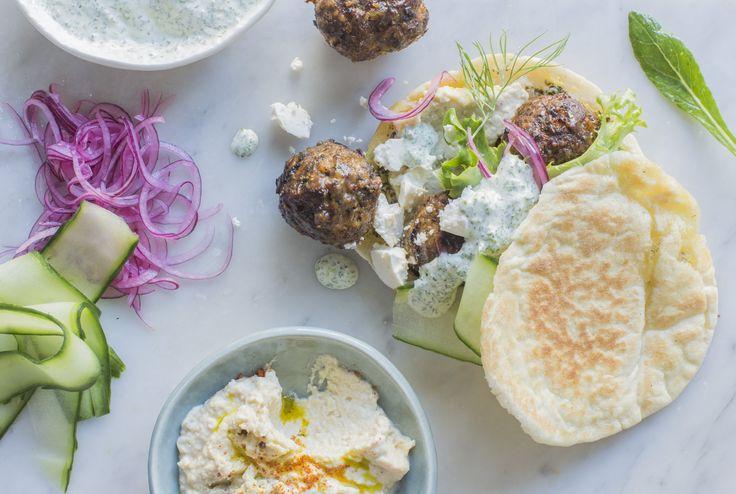 Moroccan lamb meatball feast