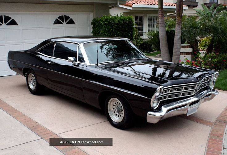 '67 Ford Galaxie sitting in the driveway of a proud owner! Great classic muscle.