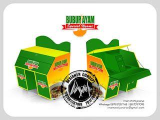 Jasa Desain Logo Kuliner |  Desain Gerobak | Jasa Desain Gerobak Waralaba: Desain Gerobak Motor Bubur Ayam