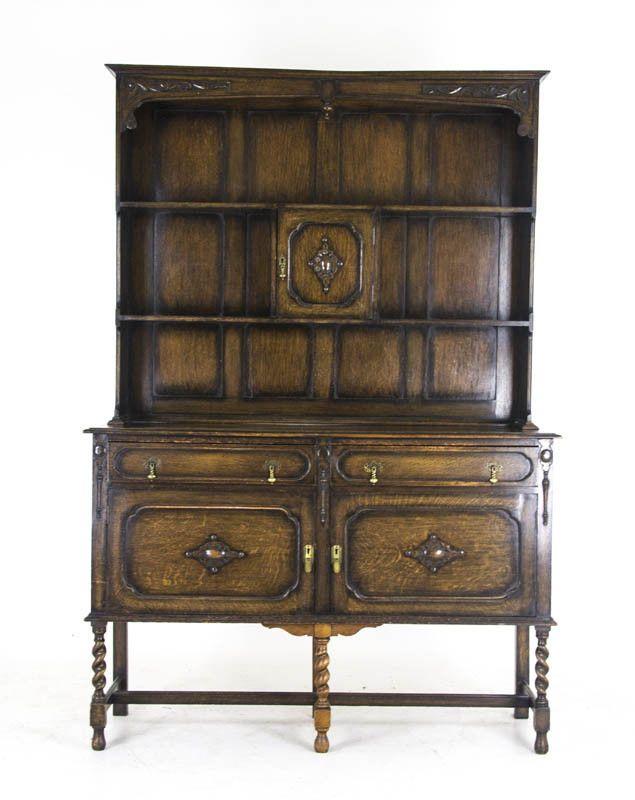 Antique Welsh Dresser | Solid Oak Sideboard | Scotland 1900s | B866