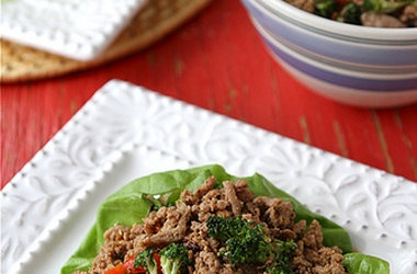 turkey amp broccoli lettuce wrap with chinese black bean sauce ...