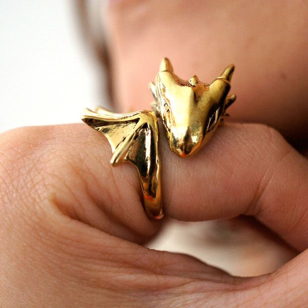 Golden Dragon Ring by MONVATOO London