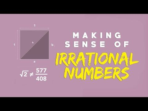 Making sense of irrational numbersf - Ganesh Pai - YouTube Mystery novel series:high school or boarding school based off of the math group mentioned in this video. Irrational numbers is a clue leading up to one of the final revealings of the mystery. Teachers in the school are apart of this mysterious society. One from each four mainstreams: cosmology, music, metaphysics, and morals. Each one of the four main characters also represent one of these. I'm not sure how dramatic it would be like…
