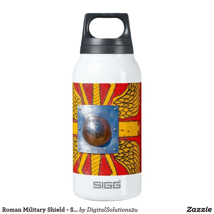 Roman Military Shield - Scutum Insulated Water Bottle