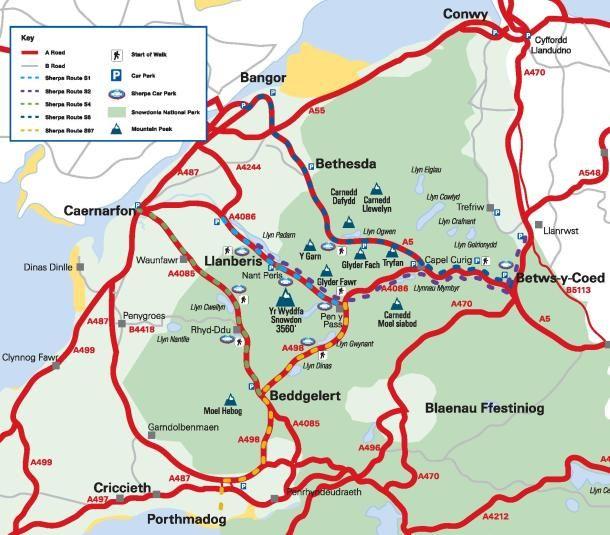 Visit Snowdonia - Snowdon Walks - 6 Routes. Description of the different routes to choose