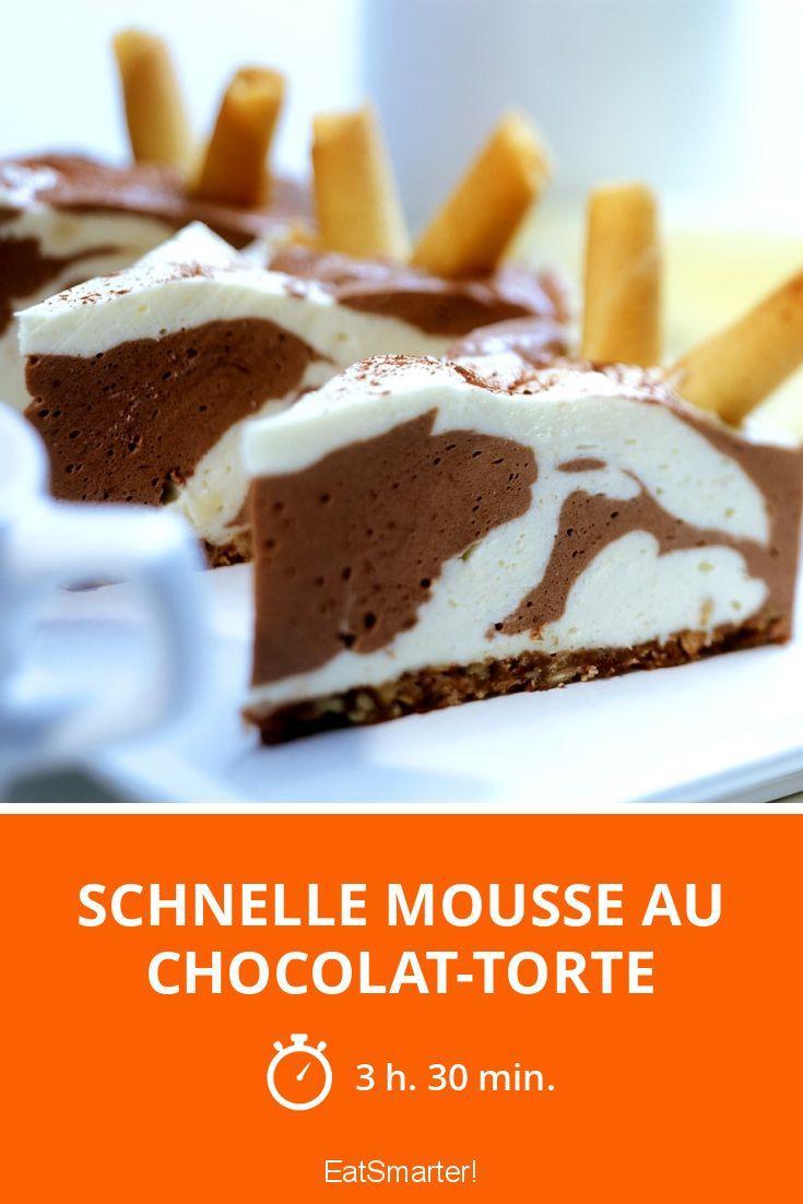 Schnelle Mousse au chocolat-Torte |