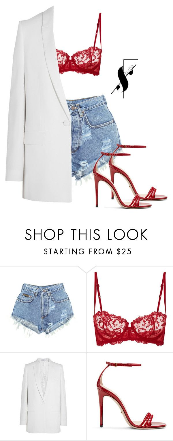 """""""Untitled #309"""" by fkyab ❤ liked on Polyvore featuring Levi's, La Perla, Givenchy and Gucci"""