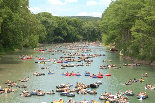 Tubing on the Guadalupe River... one of the most fun days we had in San Antonio.
