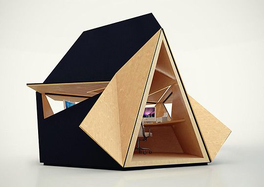 Tetra Shed designed by David Ajasa-Adekunle.: Spaces, Offices, Home Office, Sheds, Architecture, Garden, Design
