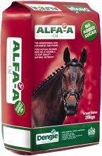 ALFA-A OIL is the ultimate pure alfalfa fibre feed for fuelling hard work, improving stamina and promoting condition in horses and ponies. The addition of rape seed oil makes this feed excellent for providing slow-release energy without the fizz. As Alfa-A Oil is free from molasses and cereal grains it is ideal for over-excitable individuals or those prone to muscle problems.