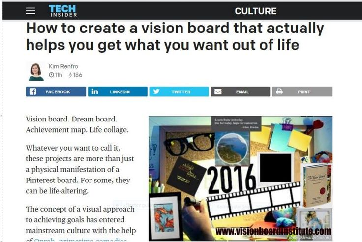 281 Best Business Vision Board Examples Images On Pinterest