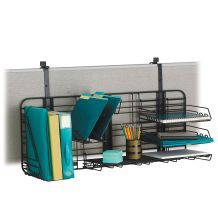 Desk Organizer for your cubicle wall.   #Cubicle #shelf. Hanging Organizer.