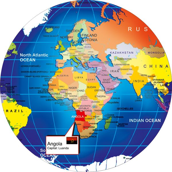 Where Is Angola On World Map