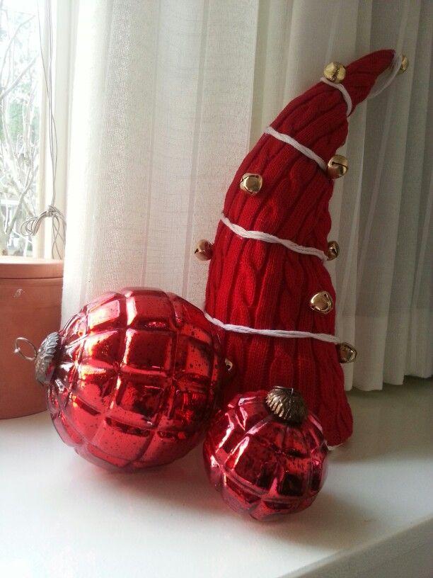 Gebreide kerstmanmuts