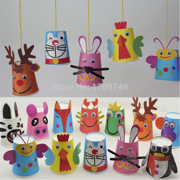 Animal paper cup material kit handmade charm diy child infant