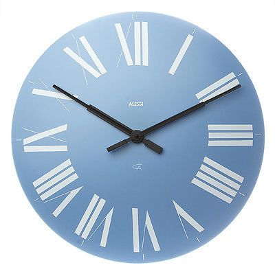 NEW Alessi Firenze Light Blue Wall Clock