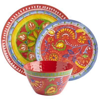 Color lovers, get ready to party. With the vibrant look of hand-painted ceramic, our Mexican-style Carnival Brights Dinnerware brings a riot of bold, brilliant hues to the table. Perfect for special celebrations or every day, it's dishwasher-safe and shatter-resistant. Buy one at a time, or get the whole enchilada.