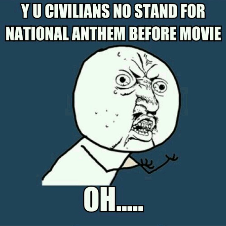 #military brat #military life. I can't be the only one who stood up before a movie the first time off base!