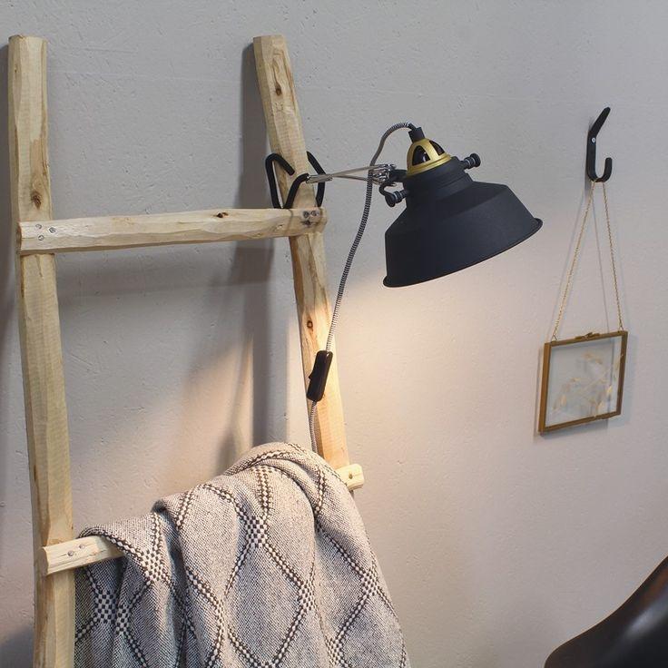 Steinhauer Loft Clamp Wall Light - Black and Gold - Lighting Direct