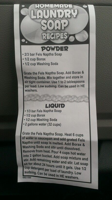 Homemade laundry soap..It works great..
