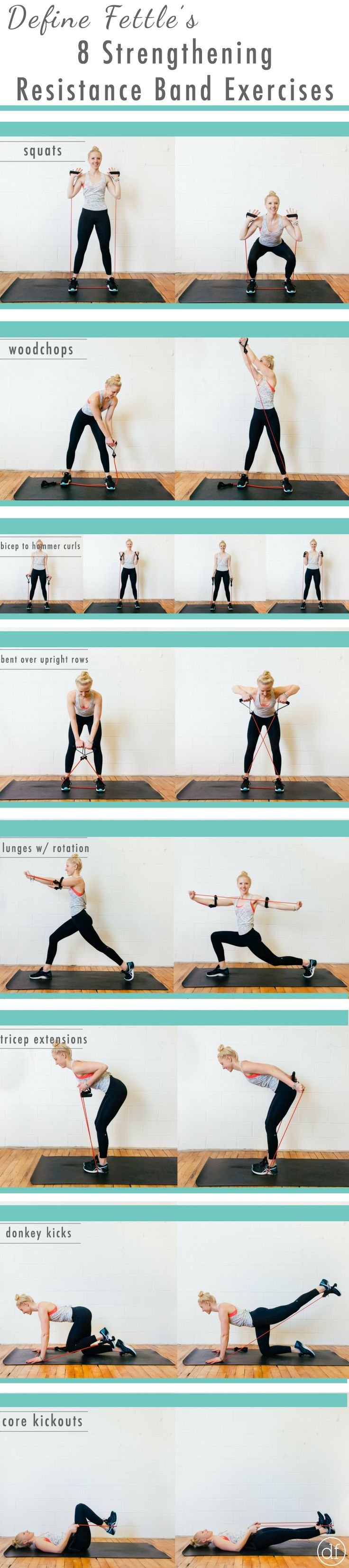 Home Workouts | Resistance Band Workouts | Strengthening Workouts | <30 Minutes | Exercise | Define Fettle