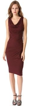 Donna karan new york Sleeveless Draped Jersey Dress on shopstyle.co.uk