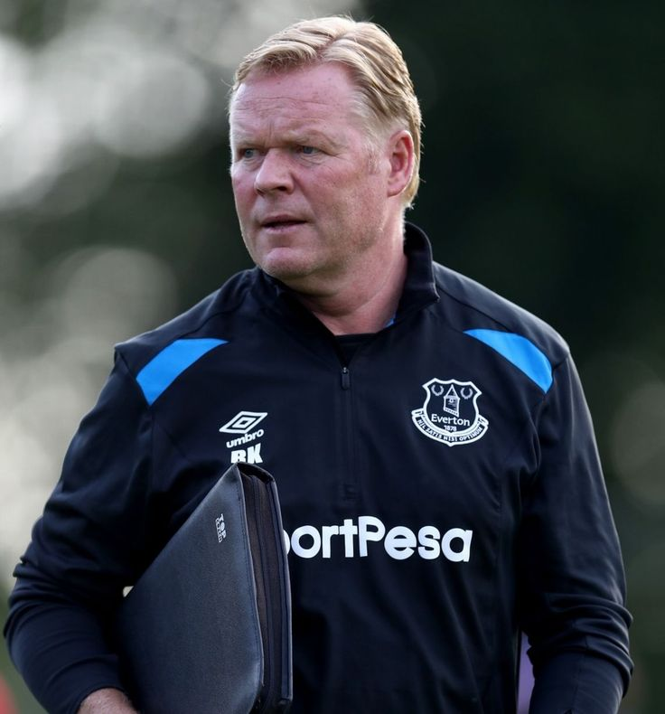 Ronald Koeman of Everton is seen during a friendly match between FC Twente and Everton