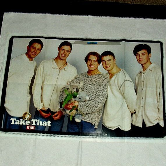 Take That TV Hits Souvenir Poster Mag Teenage by WelshGoatVintage