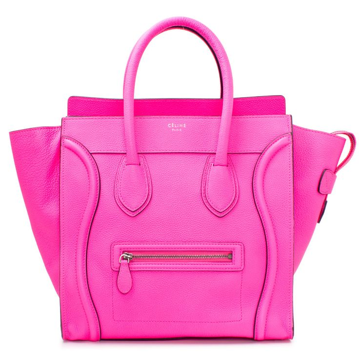 C¨¦LINE Celine Mini Luggage in Fluo Pink $2,440.00 | Bags/Clutches ...
