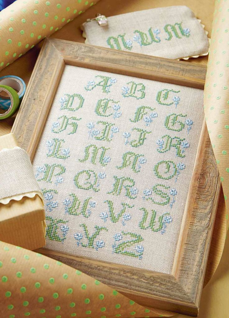 LEATY LETTER - Available in Cross Stitch Collection 246