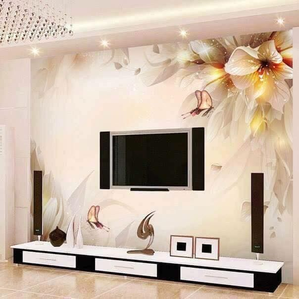 Custom Photo Wall Paper Stereo Minimalist Modern Living Room TV Backdrop  Mural Environmental Protection Non Woven Wallpaper Part 57