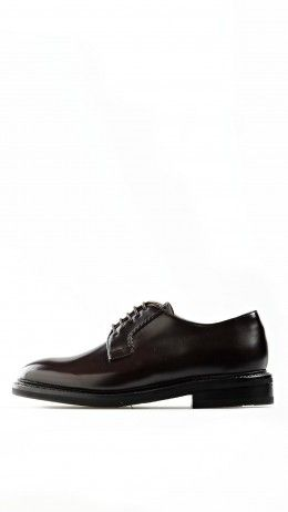 Polished leather Cordovan derby shoes