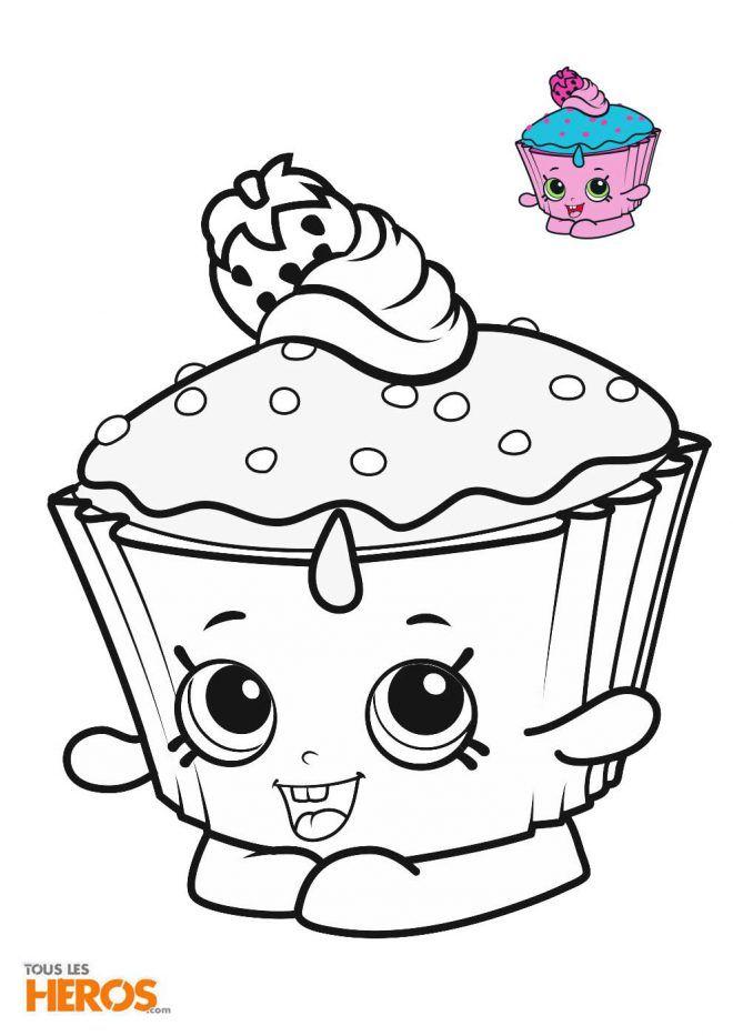 Coloriage Shopkins A Imprimer Coloriez Cupcake Chic L Adorable Cupcake Rose Et Bleu Cute Coloring Pages Shopkins Drawings Coloring Books