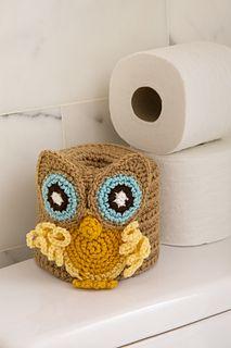 Ravelry: Retro Owl Toilet Roll Cover pattern by Rebecca J. Venton