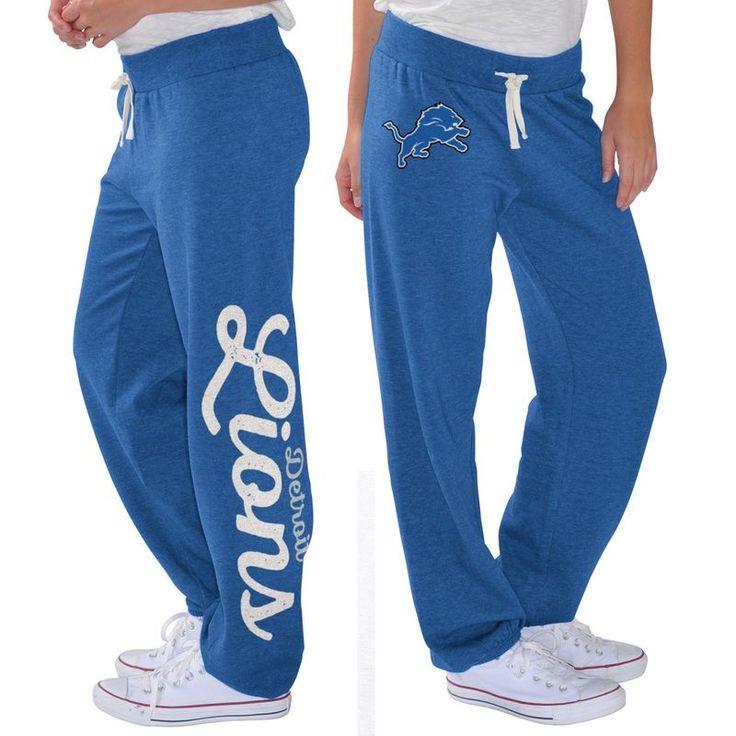 Detroit Lions G-III 4Her by Carl Banks Women's Scrimmage Fleece Pants - Blue