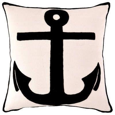 Admiral Black Ivory Indoor Outdoor Pillow
