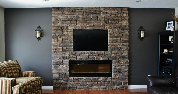 fireplace walls with seating | This client had the fireplace installed and all I added was the dark ...