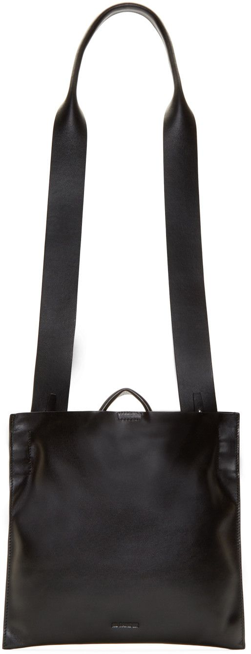 Jil Sander Black Leather Xiao Bag