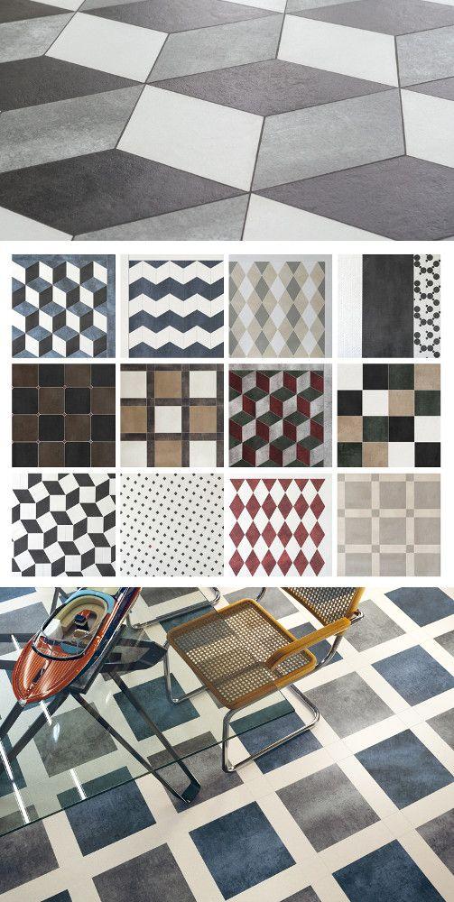 Porcelain stoneware wall/floor #tiles PLAYONE by DSG Ceramiche @dsgceramiche