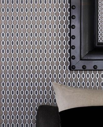 30 161 kelly hoppen hicks taupe charcoal silver stone for Silver accent wallpaper