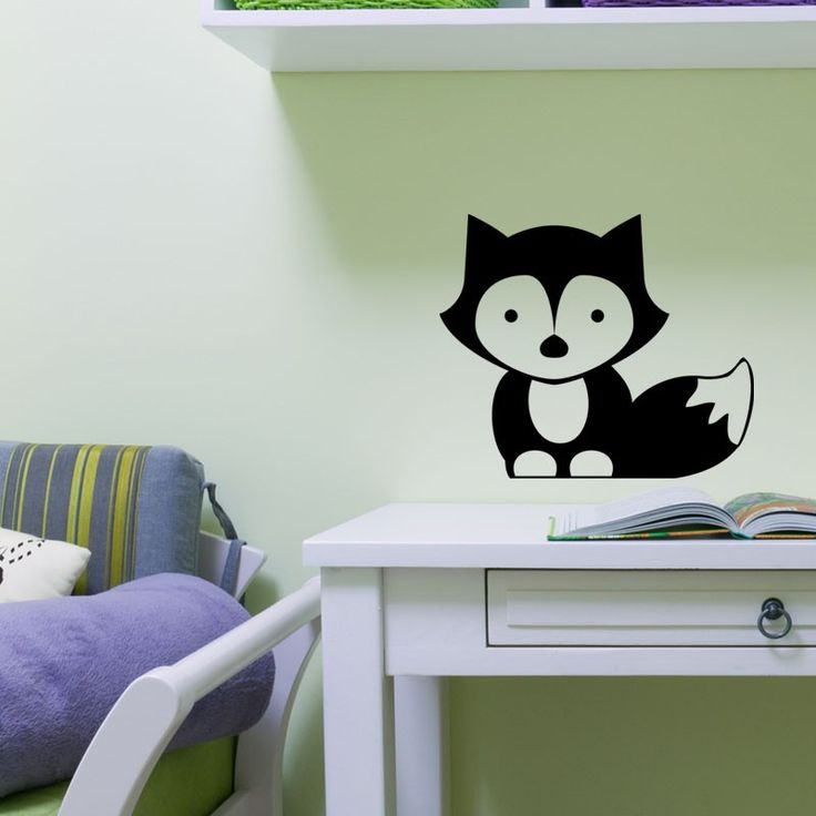 Sticker petit renard pas cher - Stickers Enfants discount - stickers muraux - madeco-stickers