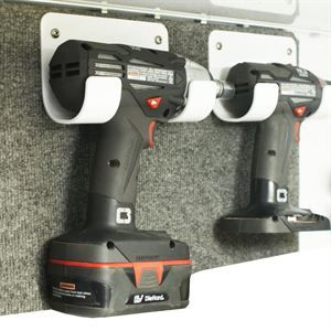 Show details for Cordless Drill, Cordless Impact Holder, White Powder Coat