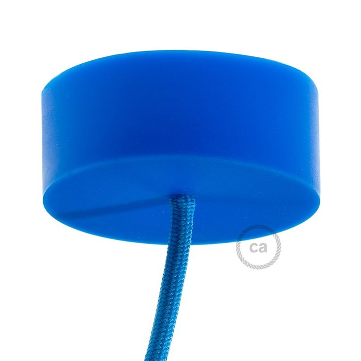 Silicone Rose Blue IT: www.creative-cables.it USA: www.creative-cables.us Europe&Australia: www.creative-cables.com #homedecor #design #interiors #silicone #casa #maison #beleuchtung #rose #canopy #rosone #eclairage #diy #illuminazione #lighting