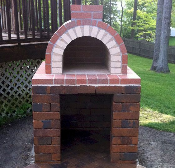 The Natalie Family Wood Fired DIY Brick Pizza Oven in New York by BrickWood Ovens