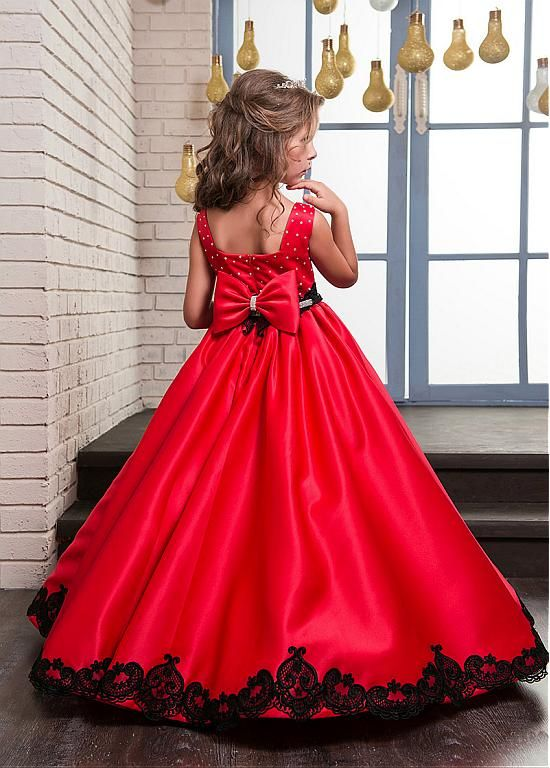 Inexpensive Flower Girl Dresses with Red